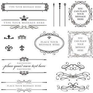 vintage calligraphic SWIRLS scrolls scrollwork designs.