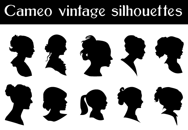 Free Vector Cameo Silhouettes.