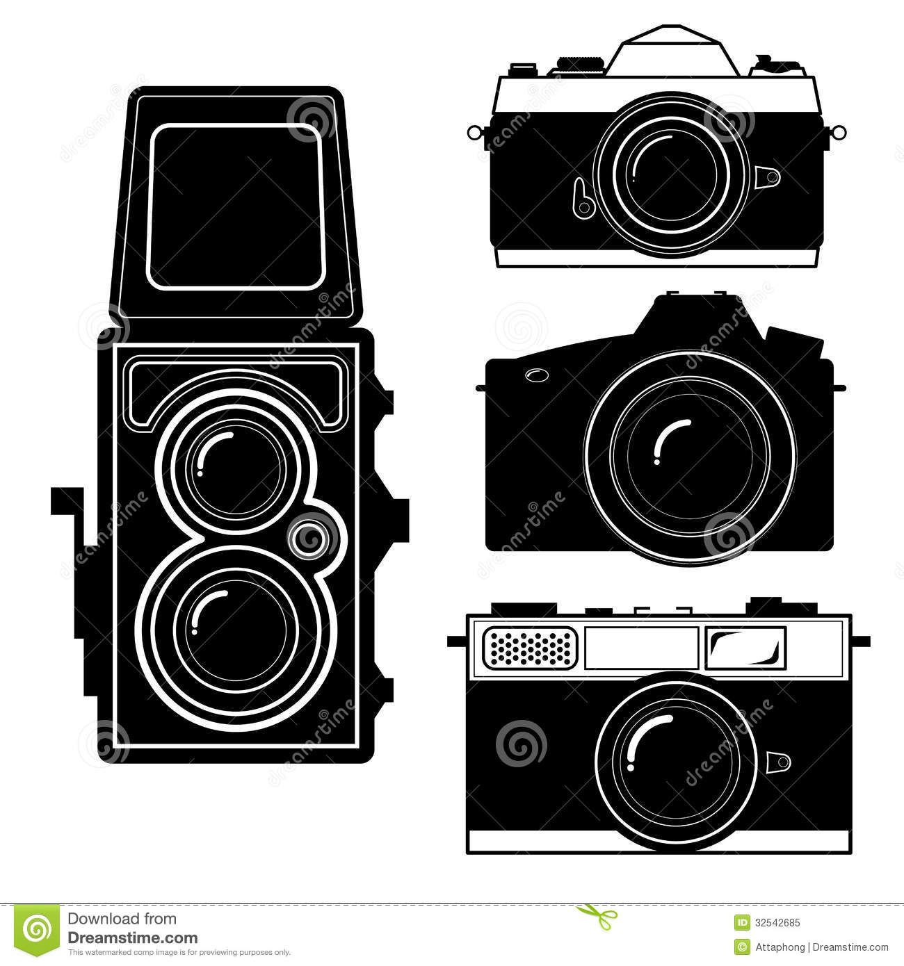 Vector Cameracamera Vintage Camera Vector Royalty Free Stock.