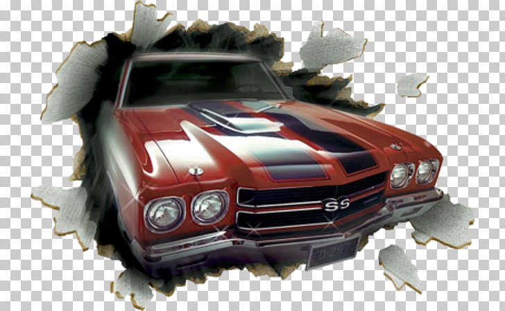 Chevrolet Chevelle Car Chevrolet Camaro Mural, Out of the.