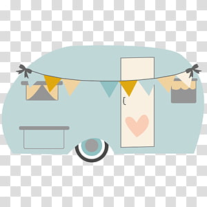Gray, green, and orange enclosed trailer, Campervans Caravan.