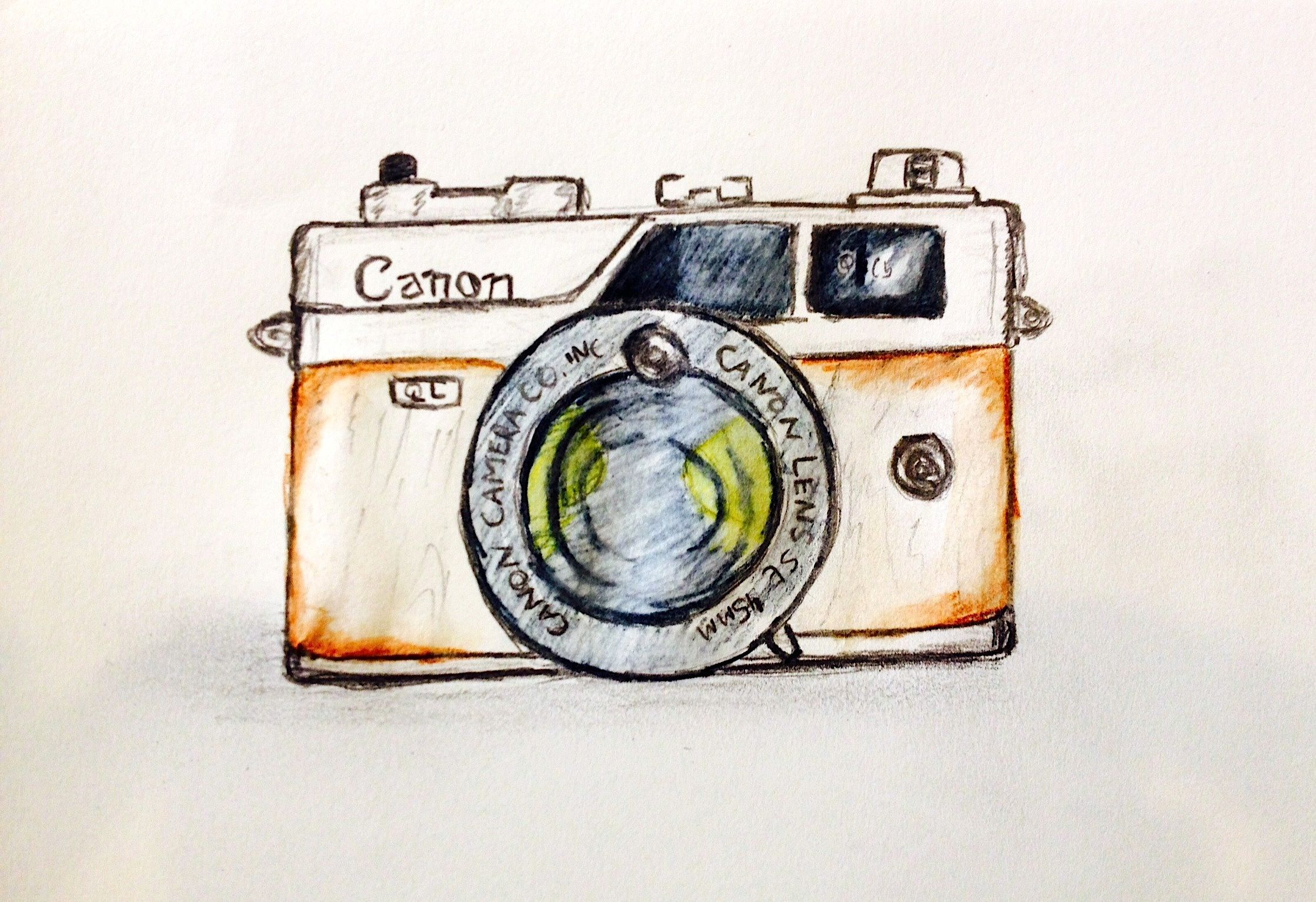 Canon Vintage Camera drawing..