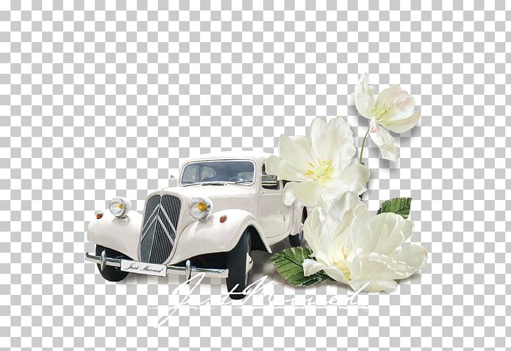 Wedding invitation Vintage car, car PNG clipart.