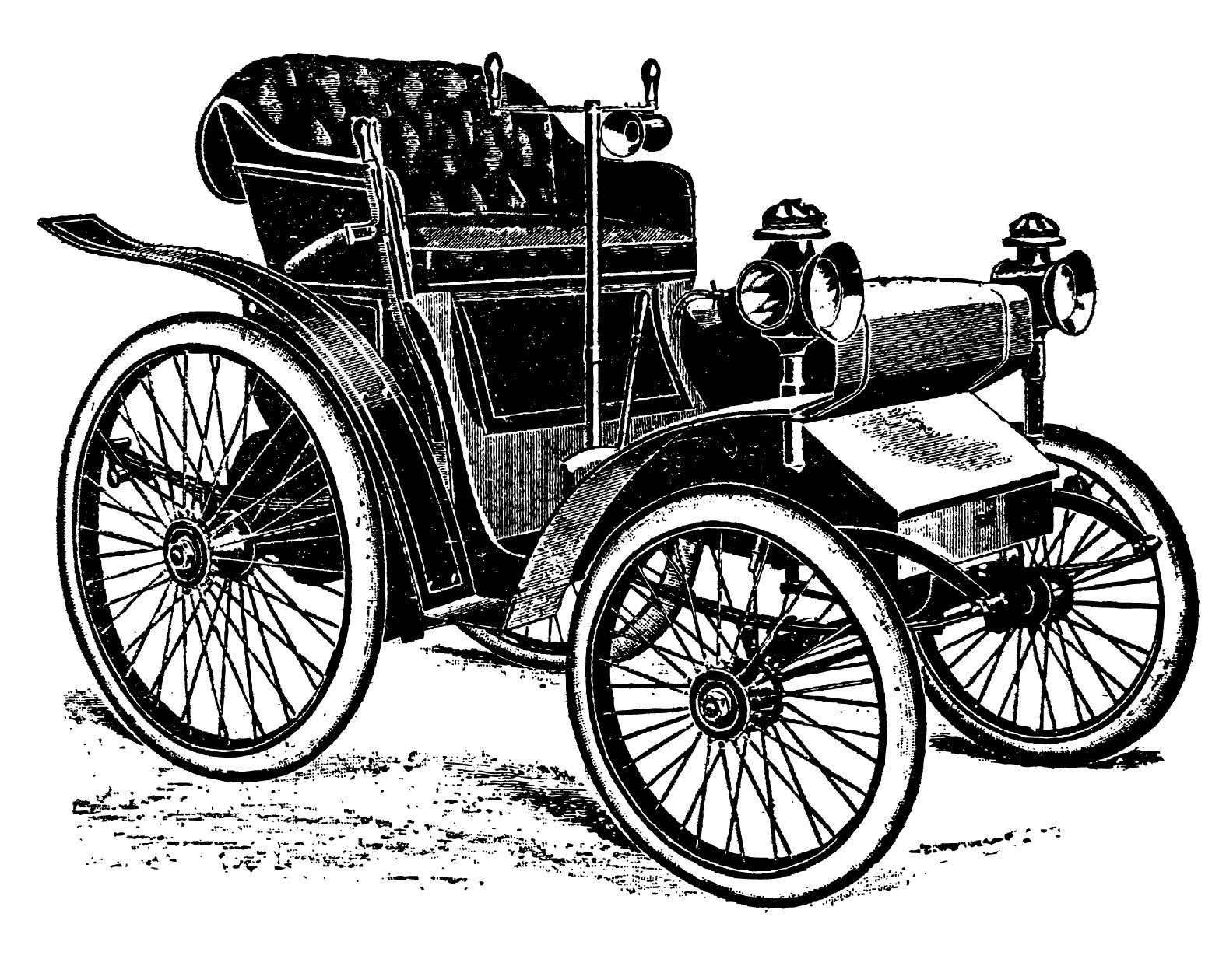 Free vintage clip art images: Vintage cars and coaches clip.