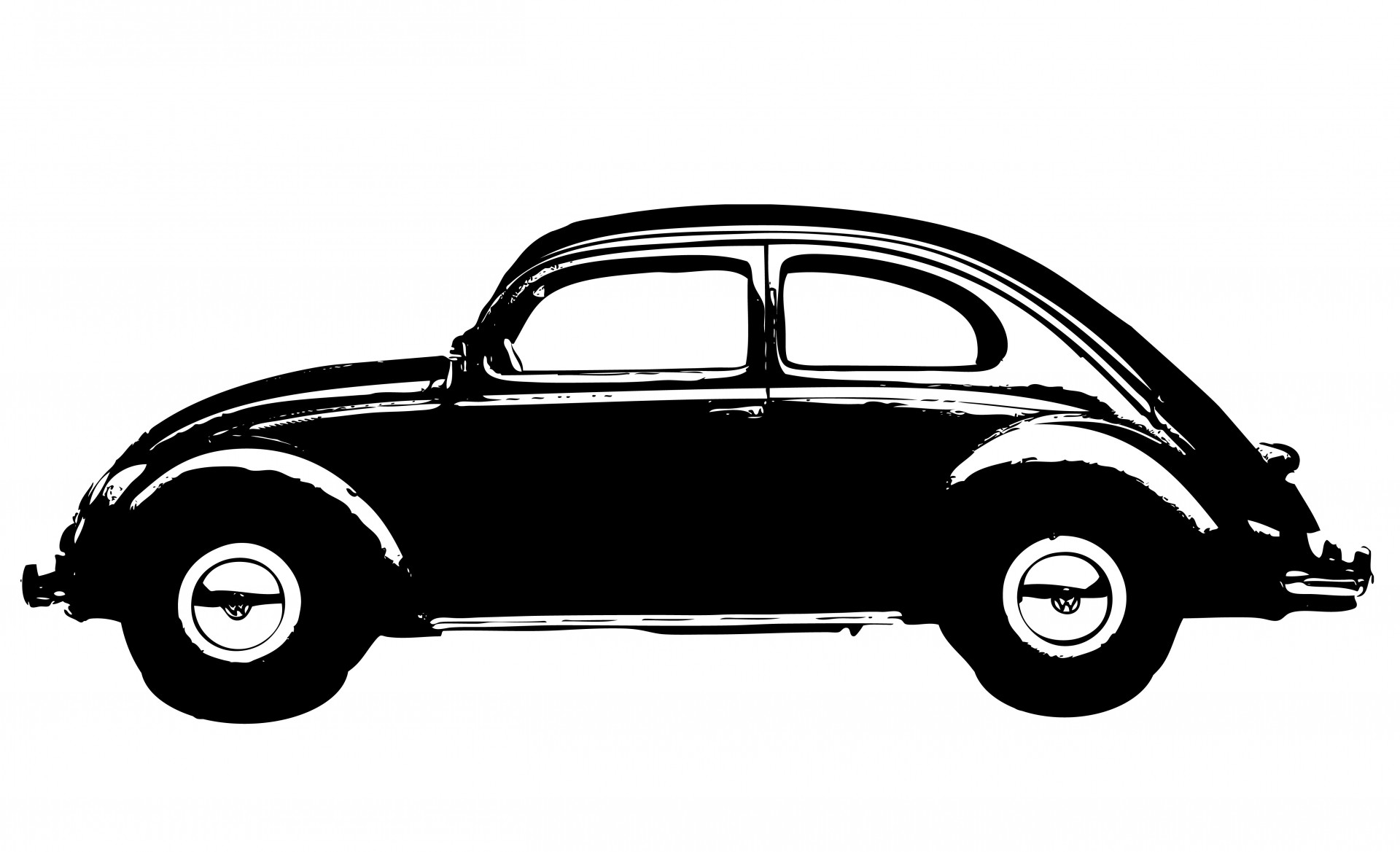 Vintage Car Black Clipart Free Stock Photo.