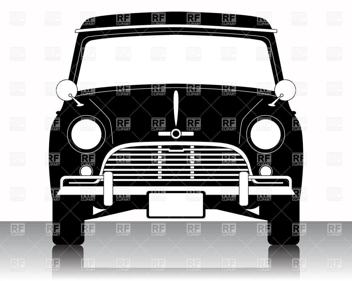 Vintage Car Front Clipart.