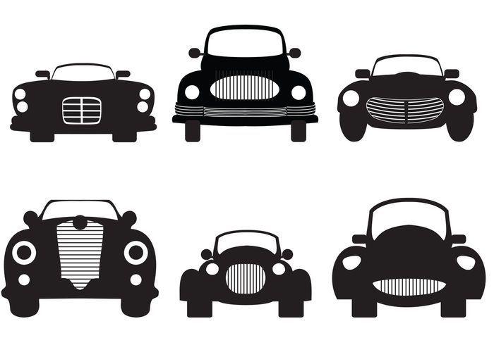Classic Car Silhouette.