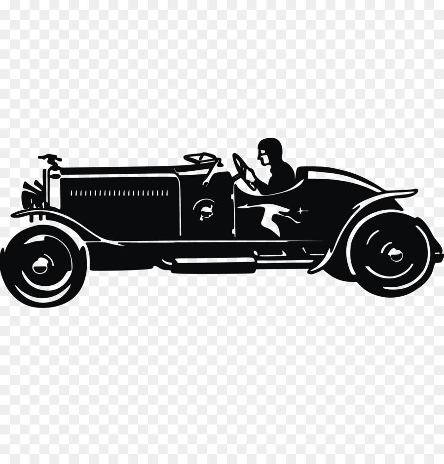 Classic car Silhouette Vintage car.