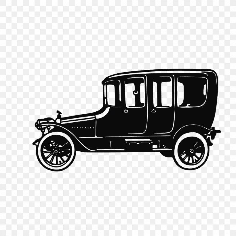 Sports Car Classic Car Silhouette, PNG, 1000x1000px, Car.