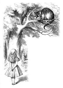 Cheshire Cat in Alice in Wonderland.