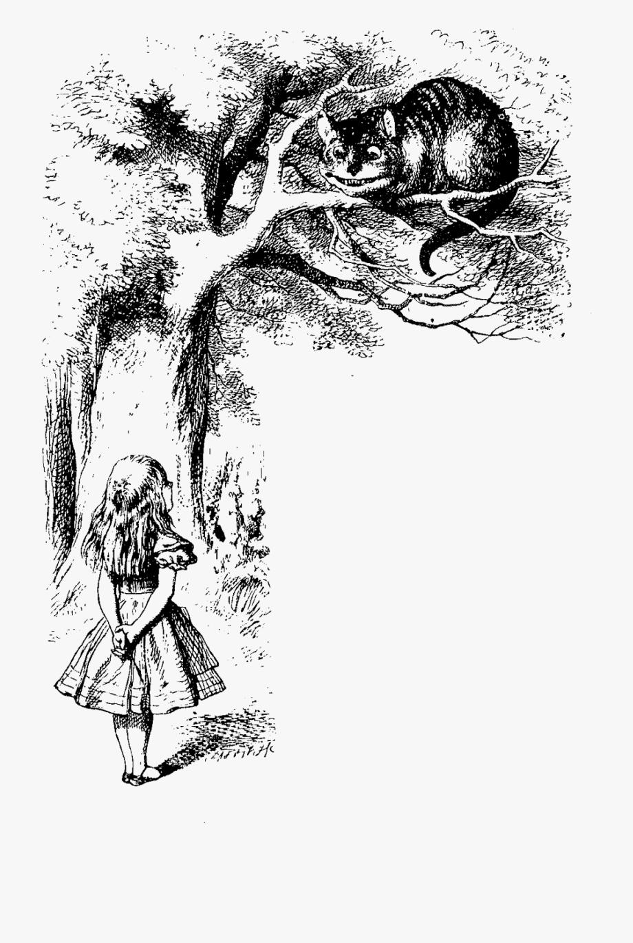Original Alice In Wonderland Cheshire Cat , Transparent.