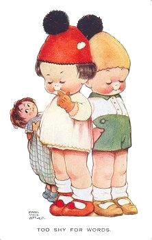 Vintage Delights: Cute Vintage children clip art.