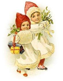 Free Christmas Clipart: Vintage Children.