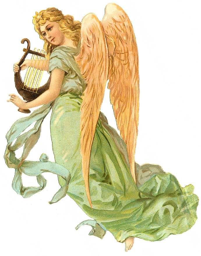 Vintage Angel Clip Art Free.