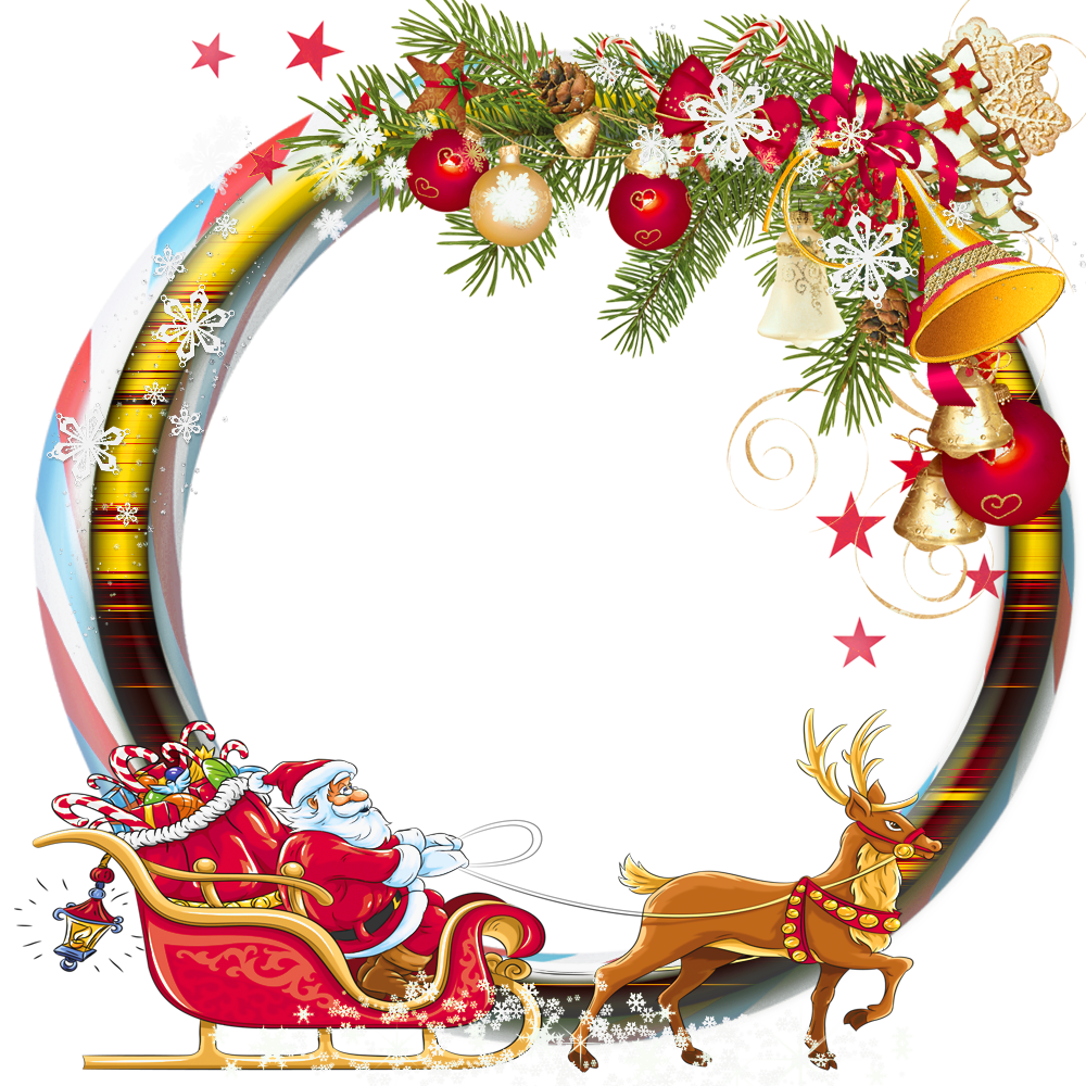 christmas transparent png borders and frames.