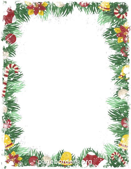 Vintage Christmas Border: Clip Art, Page Border, and Vector Graphics.