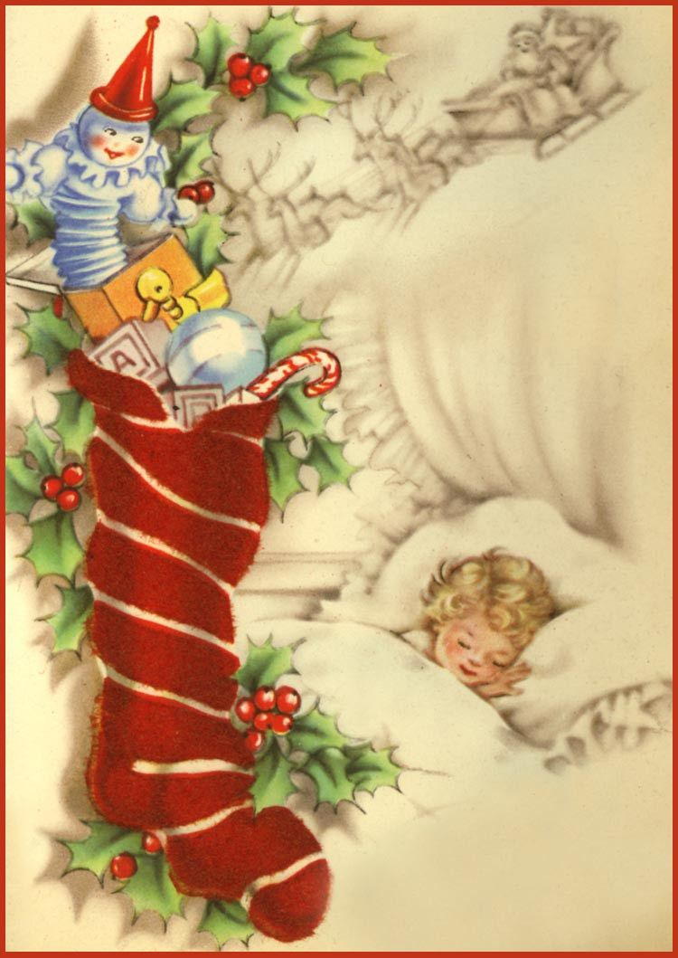Vintage Christmas Cards and Art.