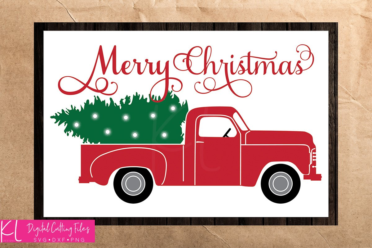 Christmas Truck SVG Files.