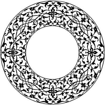 Free Vintage Circle Frame Border.
