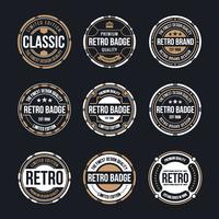 Retro Circles Free Vector Art.