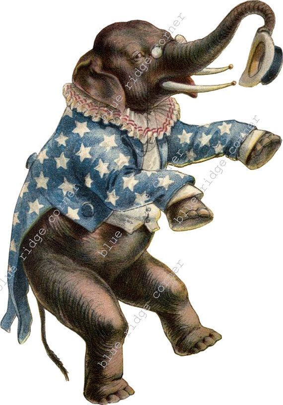 Free download Vintage Circus Elephant Clipart for your.