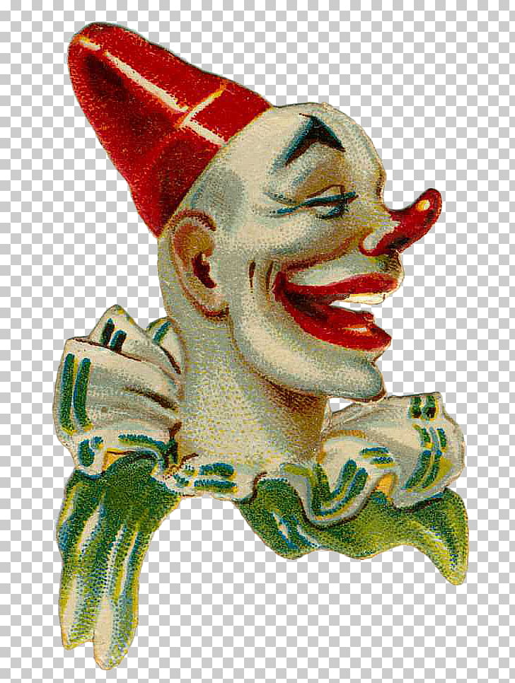 Clown Paintings Circus Collage, Vintage circus clown PNG.
