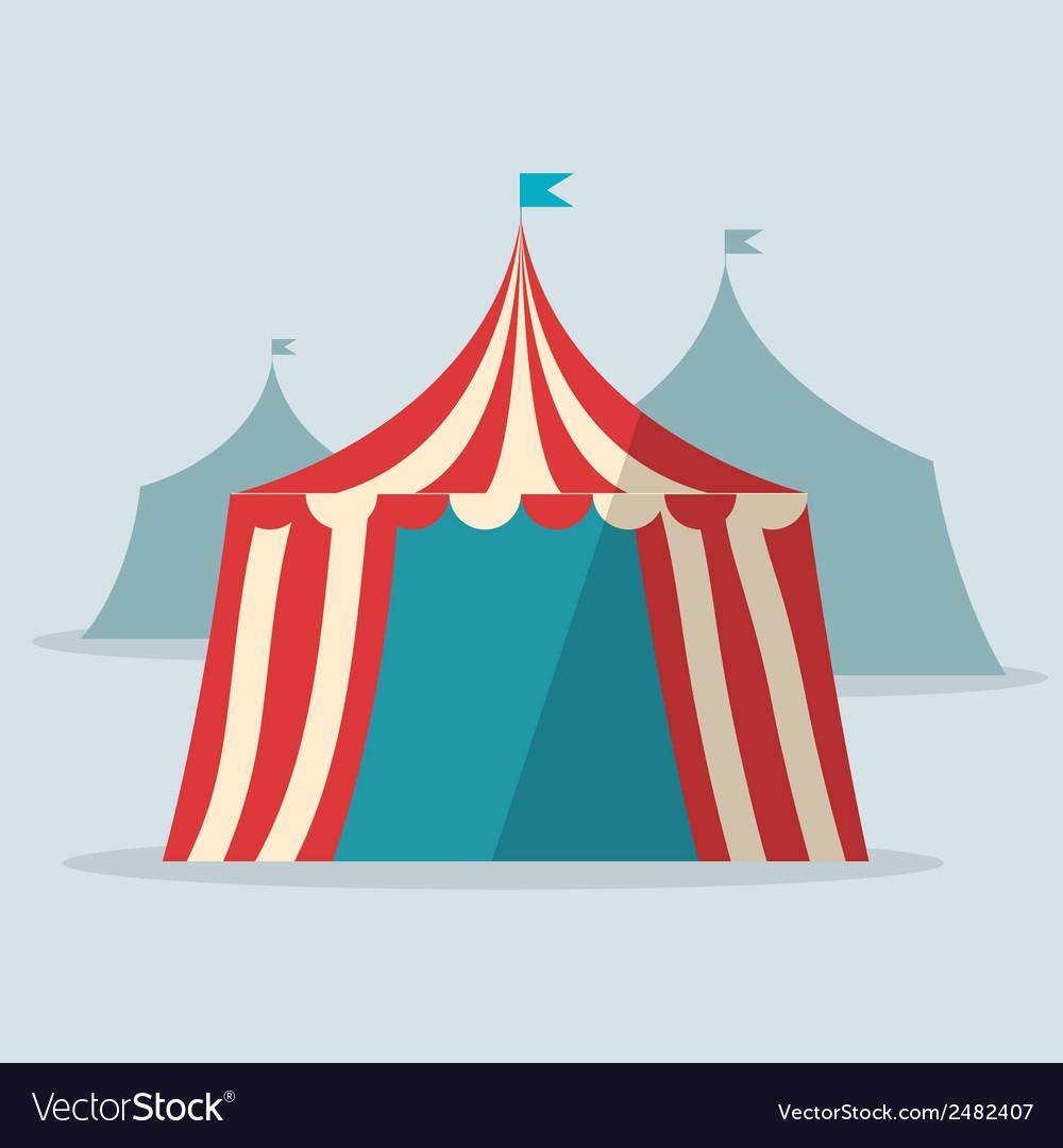 Vintage circus tent flat design.