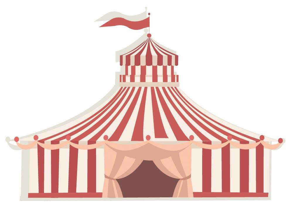 Circus Tent Wall Sticker.