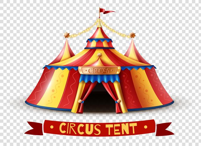Circus Tent Transparent Background Image.