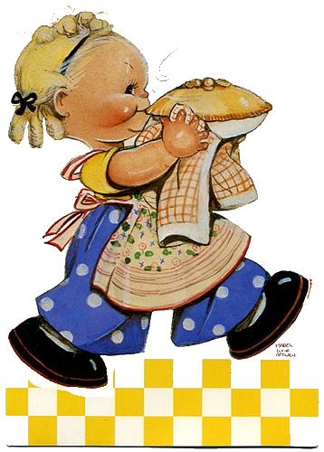 Cute Vintage children clip art.