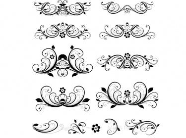 Flourish Clip Art Vintage Flower Clipart Designs for DIY Wedding  Invitations, Decorative Scrapbooking Embellishments. Beautiful Olde Worlde  Design.