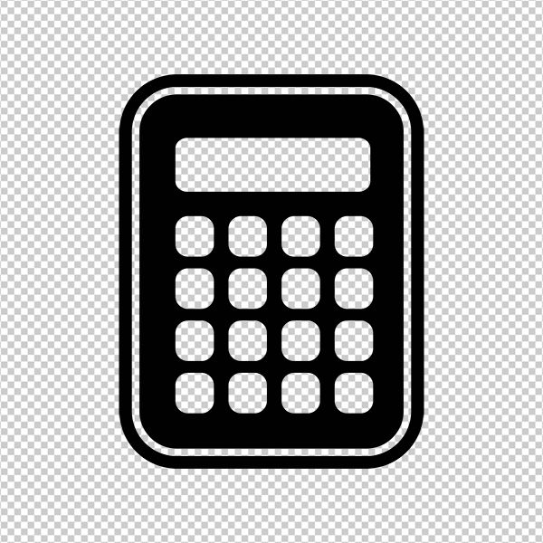 Digital calculator icon printable image calculator graphic.