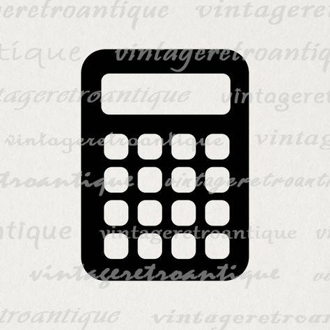 Printable Digital Calculator Download Calculator Icon Image.