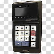 VVintage, black calculator transparent background PNG.