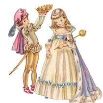 Vintage Clip Art: Prince and Princess.
