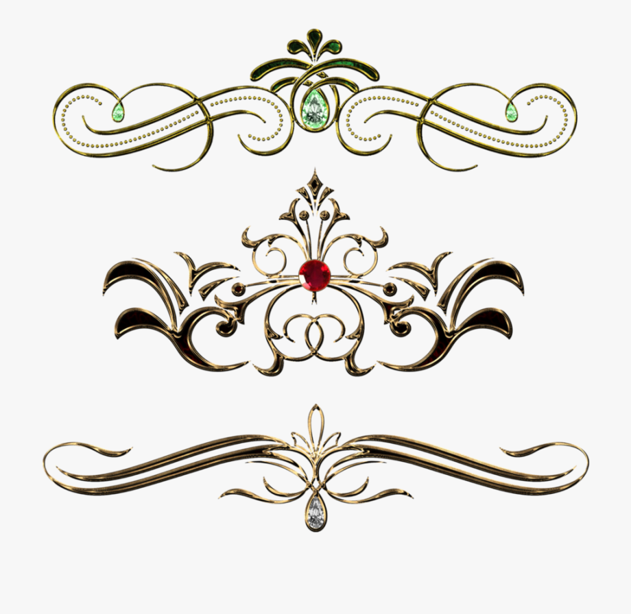 Fancy Gold Page Borders Download.