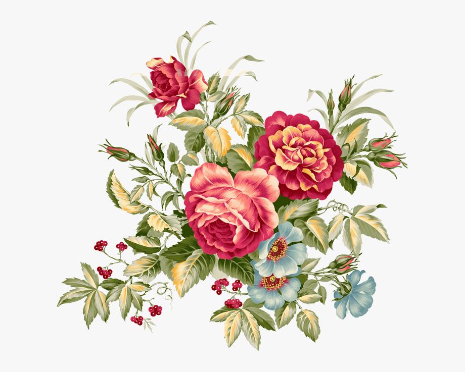 Flowers Clipart Vintage , Png Download.