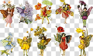Vintage Fairy transparent background PNG cliparts free.