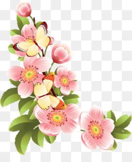 Flower Banner PNG.
