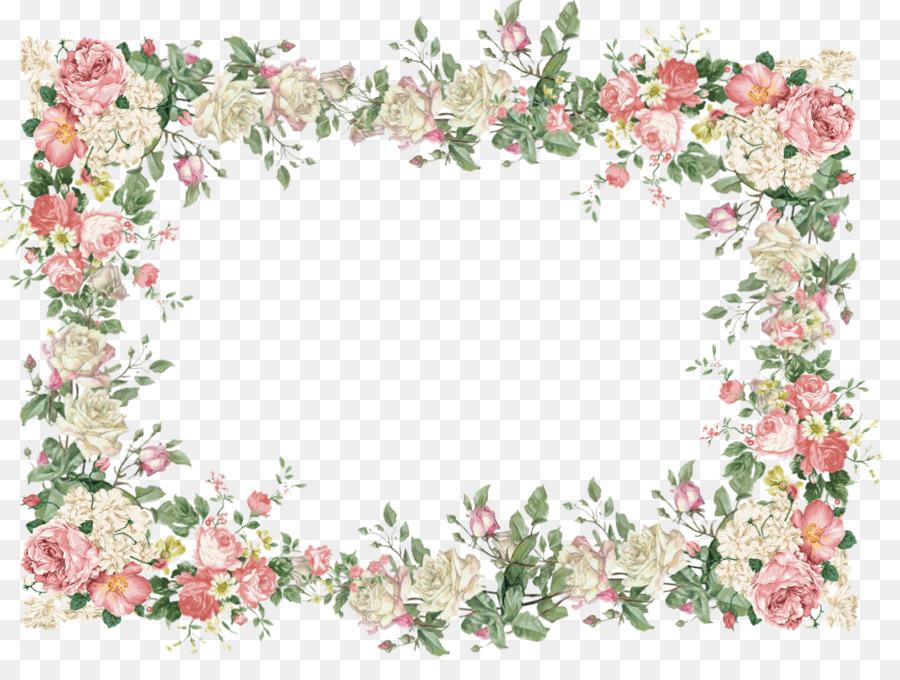 Vintage Floral Frame clipart.