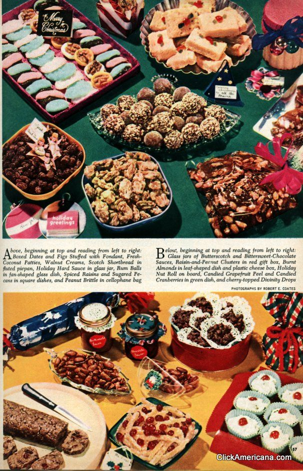 A collection of classic Christmas cookies from the \'50s.
