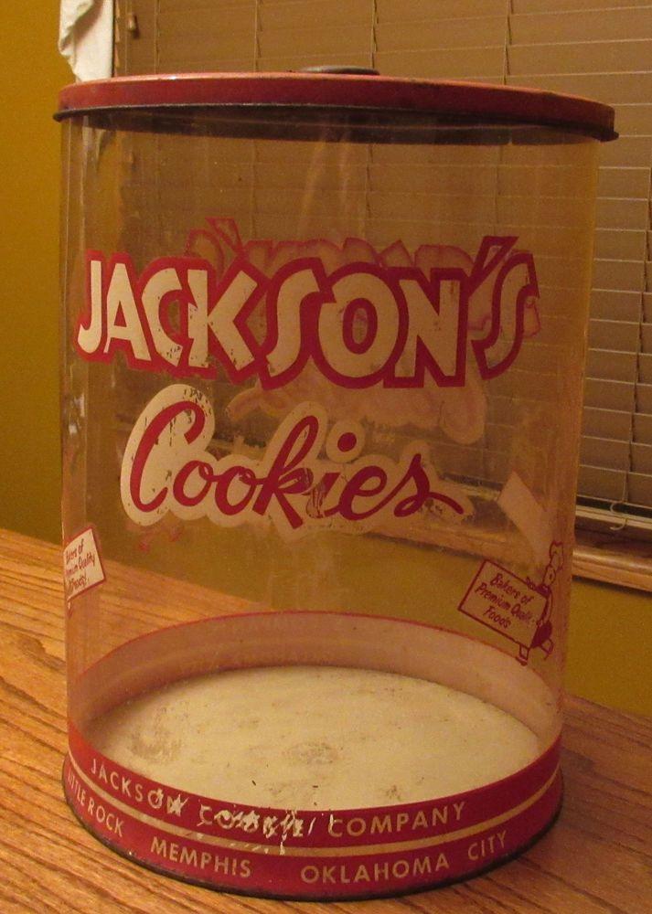 Vintage JACKSON COOKIE CO. GENERAL STORE COUNTER DISPLAY.
