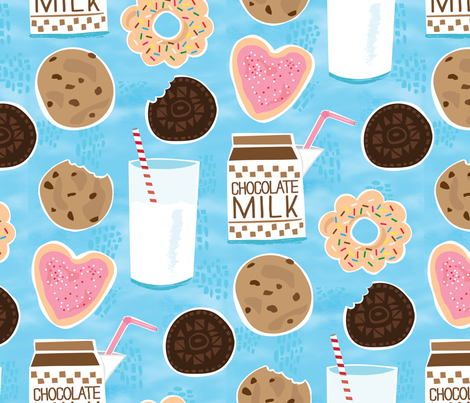 Happiness is Cookies and Milk fabric by lisakubenez on.