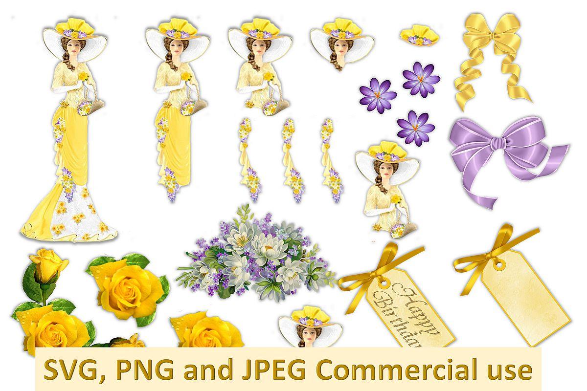 Vintage Collage Clipart Bundle Commercial Use SVG PNG JPEG.