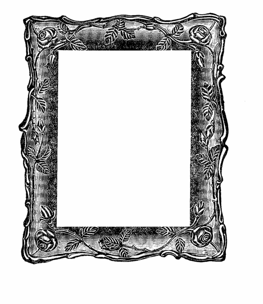 Can Use For Book Cover, Old Frame Clipart.