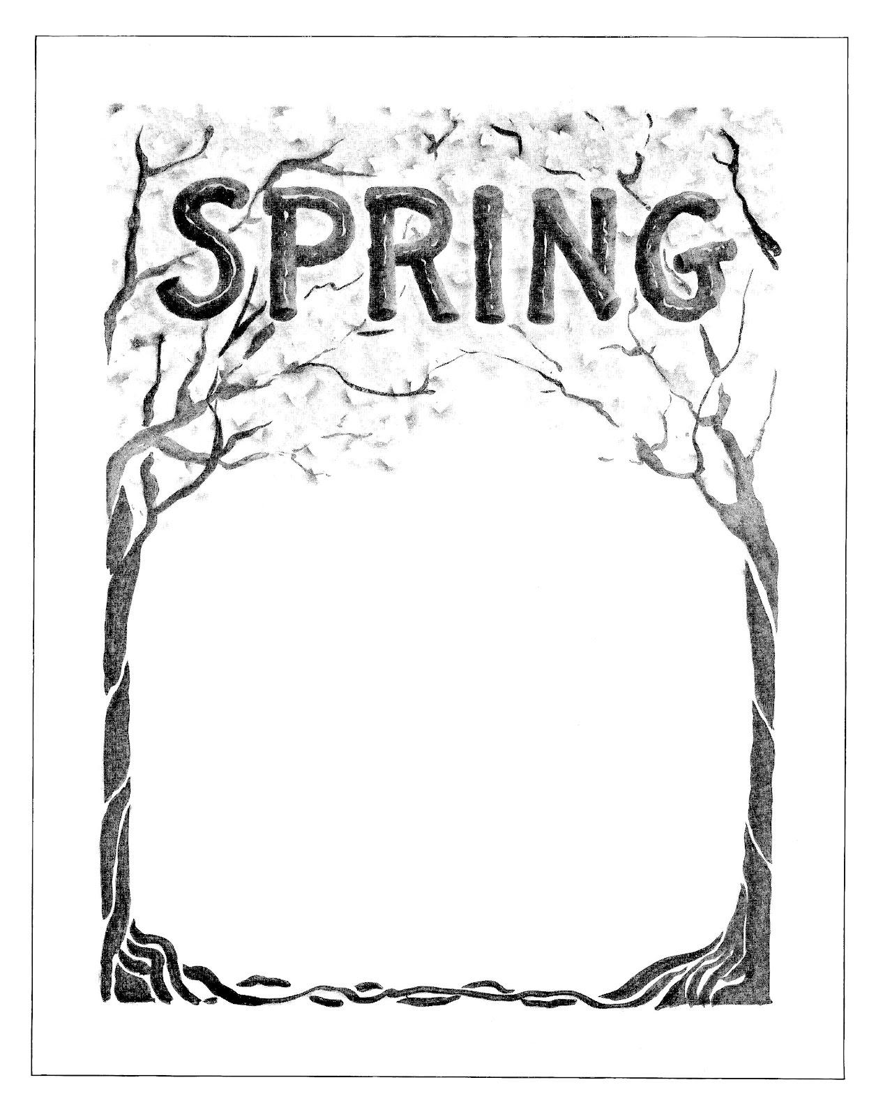 Vintage Spring Background Clip Art   Clipart Free Download.