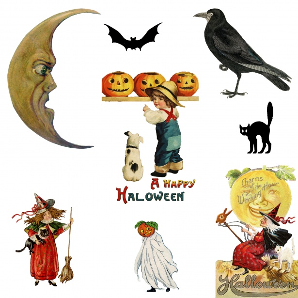 Halloween Vintage Clipart Free Stock Photo.