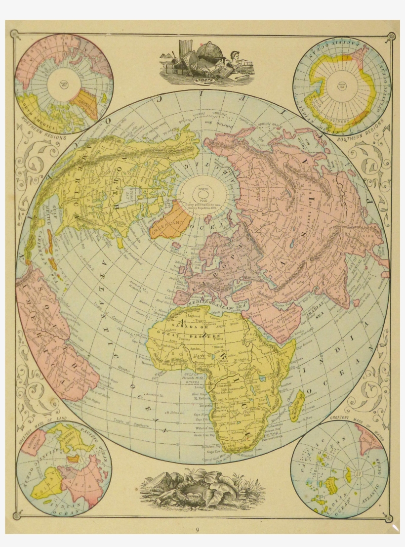 Vintage World Map Png Clipart Library Stock.