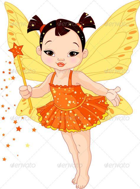 Cute Asian Baby Fairy.