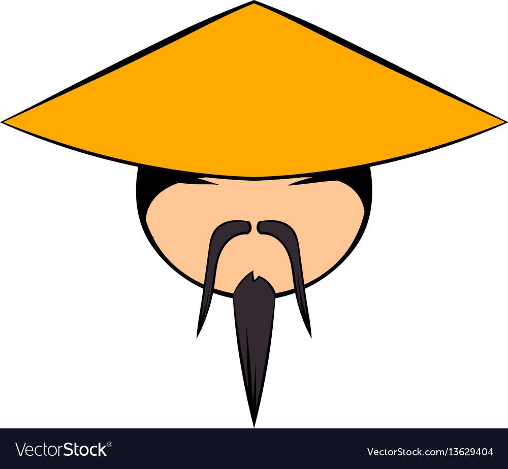 Chinese man icon cartoon.